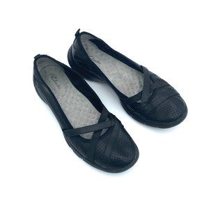 CLARKS Black Privo Cushioned Comfort Shoes #986